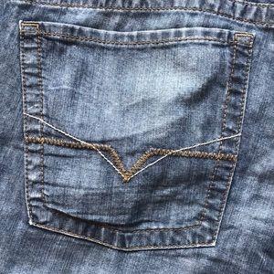 Guess Rebel Straight Leg Blue Jeans 36X32
